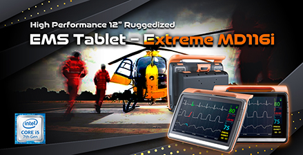 "High Performance 12"" Ruggedized EMS Tablet-Extreme MD116i"