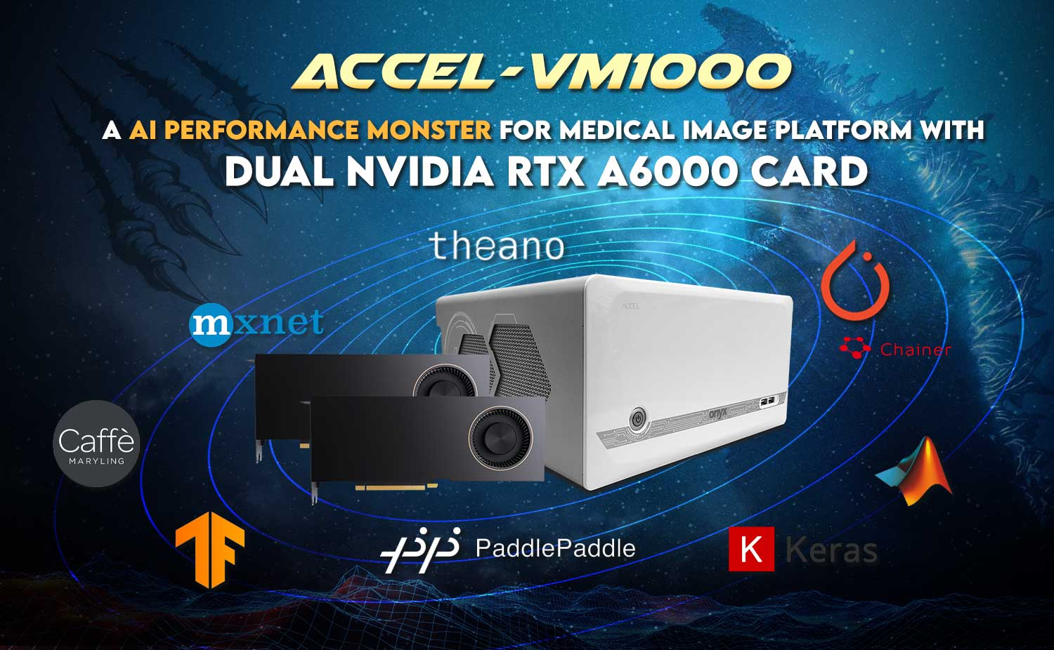 ACCEL-VM1000  a AI performance Monster for medical image platform with  DUAL Nvidia RTX A6000 CARD