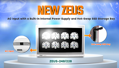 NEW ZUES-AC Input with a Built-In Internal Power Supply and Hot-Swap SSD Storage Bay