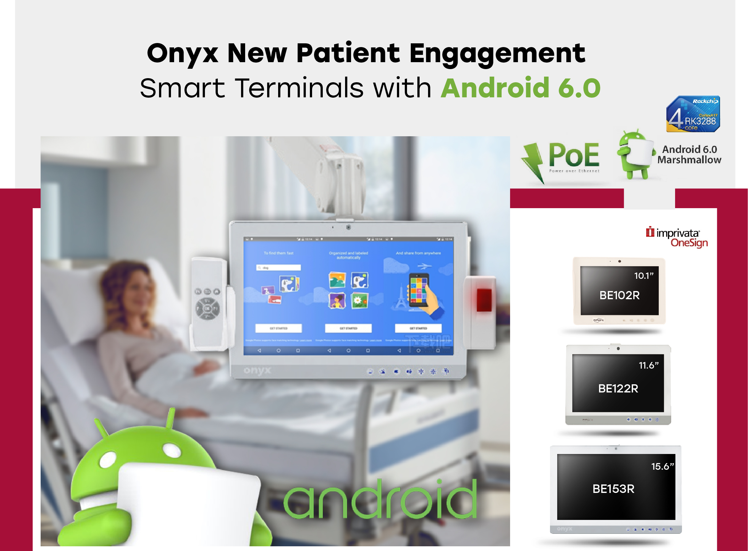 Onyx New Patient Engagement  Smart Terminals with Android 6.0